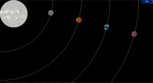 The Inner Solar System abstract view as of this morning.